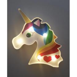 Dekoratif Işıklı Renkli Unicorn Lamba