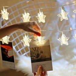 Işıklı Yıldızlı Fotoğraf Mandalları