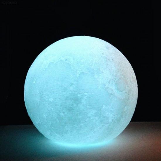 Mavi Moonlight Dolunay Gece Lambası 12 cm