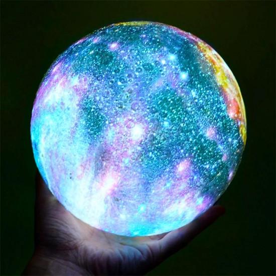 Renk Değiştiren Galaxy Dolunay Moonlight Lamba 12 cm