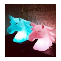 Işıklı Silikon Unicorn Kafa Gece Lambası