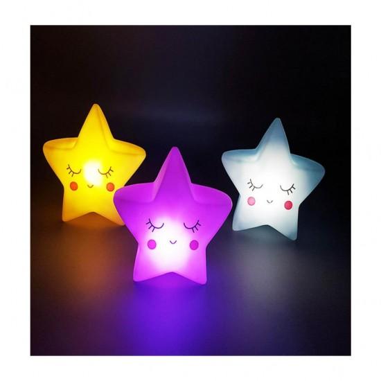 Işıklı Silikon Yıldız Gece Lambası Çocuk Odası