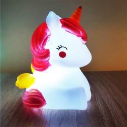 Işıklı Silikon Unicorn Gece Lambası Hediyelik
