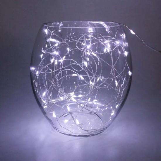 Işıklı Peri Bakır Tel Dizeleri 100 Ledli 10 metre