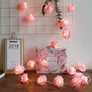 Led Işıklı Pembe Güller 20'li 3 metre
