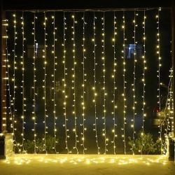 Perde Saçaklı Led Işıklar Animasyonlu 3x3 metre