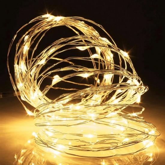 Işıklı Peri Bakır Tel Dizeleri 50 Ledli 5 metre