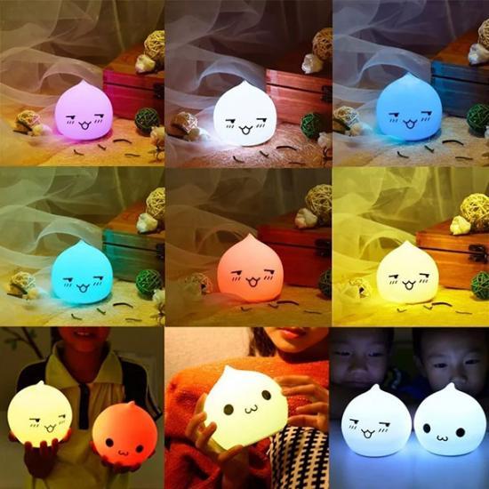 6 Renk Yanabilen Dokunmatik Gece Lambası - Sakin-