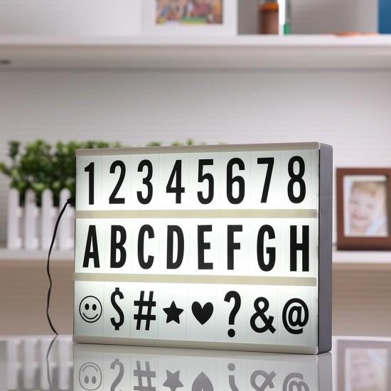 A4 Büyük Boyut Lightbox Led Işıklı Yazı Panosu