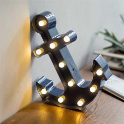 Çapa Led Işıklı Masa Duvar Gece Lambası