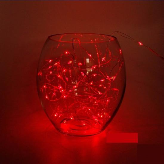 Kırmızı Led Işıklı Peri Tel