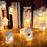 Led Ahşap Işık Köyü (Işıklı Evler)