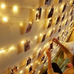 Dekoratif Led Işık Dizeleri 5 metre - mandal hediyeli