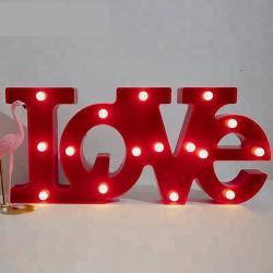 Led Işıklı Büyük Love Yazısı Pano