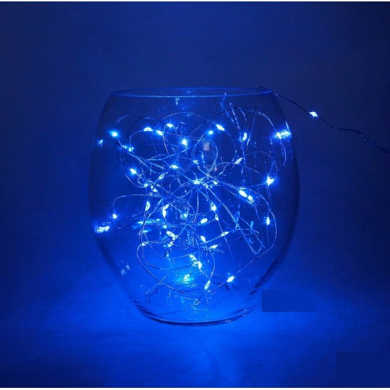 Mavi Led Işıklı Peri Tel