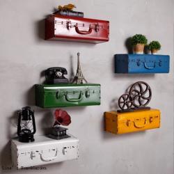 Dekoratif Metal Bavul Duvar Aksesuarı
