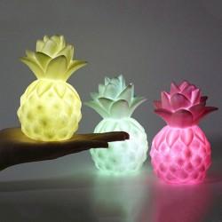 Led Işıklı Ananas Silikon Gece Lambası