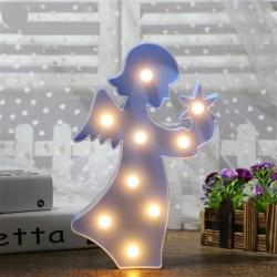 Işıklı Melek Masa Duvar Gece Lambası