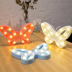 Kelebek Led Işıklı Masa Duvar Gece Lambası