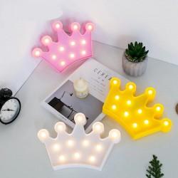 Kral Tacı Led Işıklı Masa Duvar Gece Lambası