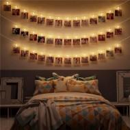 Led Işıklı Fotoğraf Mandalları 10'lu 1,5 metre