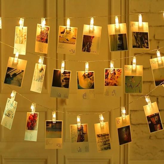 Led Işıklı Fotoğraf Mandalları 20'lİ 3 metre