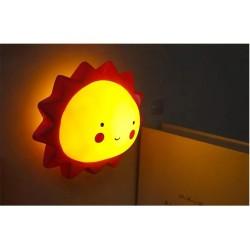 Led Işıklı Güneş Silikon Gece Lambası