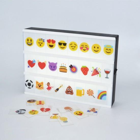 Lightbox Işıklı Pano Renkli Emoji Seti