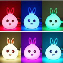 Şarjlı ve 6 Renk Dokunmatik Gece Lambası