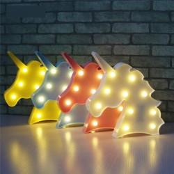 Unicorn Led Işıklı Masa Duvar Gece Lambası