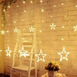 Yıldız Perde Saçaklı Led Işıklar Animasyonlu