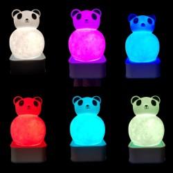 Sese ve Dokunmaya Duyarlı Silikon Panda Gece Lambası Renkli