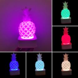 Sese ve Dokunmaya Duyarlı Silikon Pembe Ananas Gece Lambası Renkli