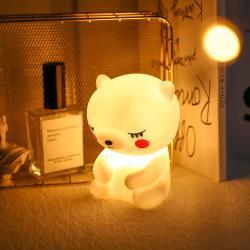 Silikon Led Işıklı Ayıcık Lamba Sarı