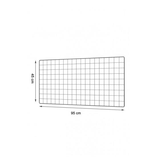 Siyah Metal Tel Organizer Duvar Panosu – 95×45 cm