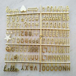 Yazı Tahtası Gold Harf Seti 140 Karakter