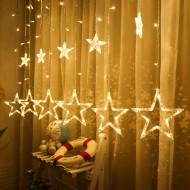 Yıldız Perde Led Işıklar Pilli